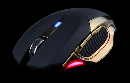 mouse gamer noga kronos premium led dorado usb
