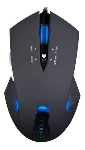 mouse gamer noganet 6 botones 2400 dpi led 338 noga