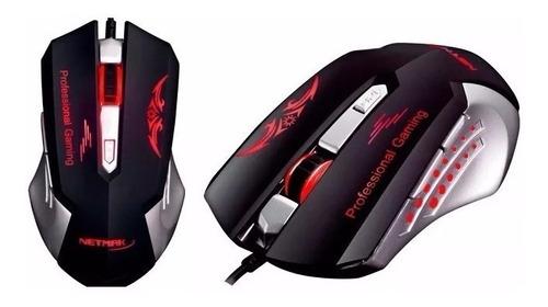 mouse gamer para notebook xenon retroiluminado led 2400 dpi