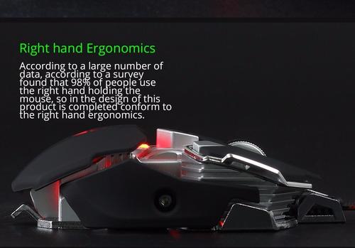 mouse gamer pro mecanico! g10 programable 10 botones 4000dpi
