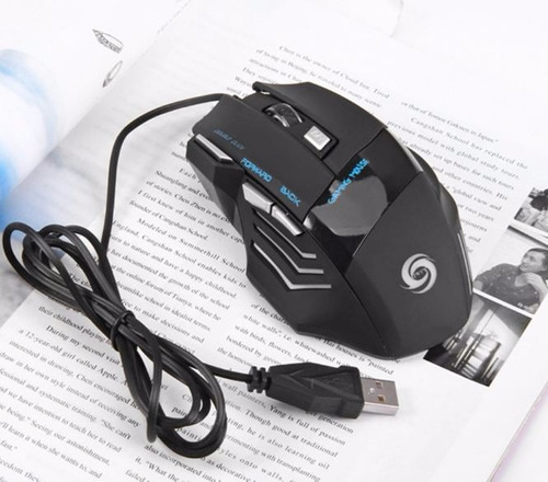 mouse gamer pro optico 5500dpi usb led 7 botones gaming