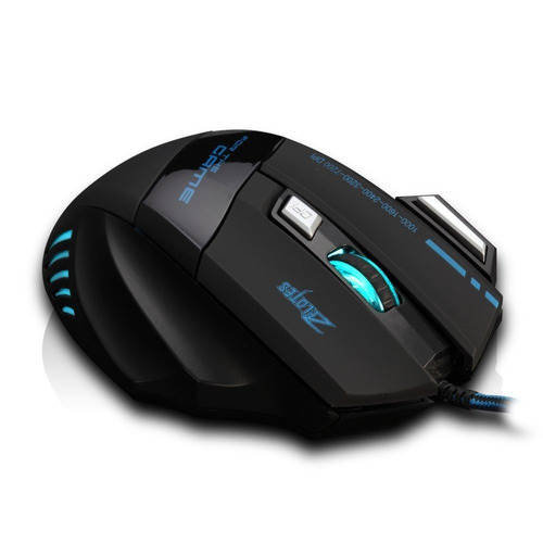 mouse gamer pro zelotes 7200 dpi 7 botones led usb