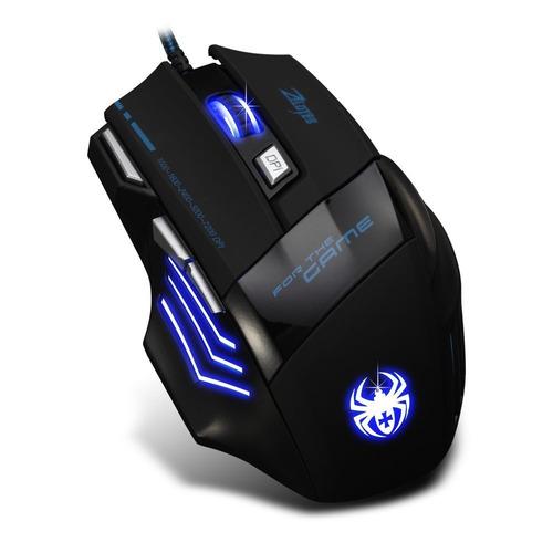 mouse gamer pro zelotes 7200 dpi 7 botones led usb