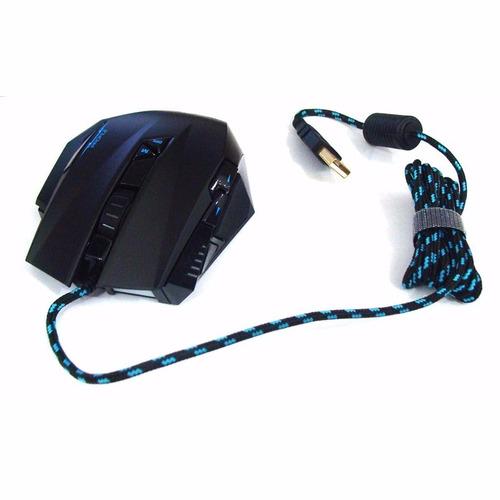 mouse gamer profissional 6000dpi led 9 botões leadership 392