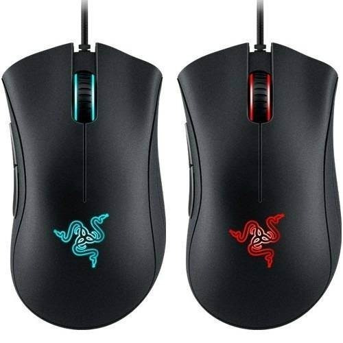 mouse gamer razer deathadder chroma luz rgb dpi cs dota lol
