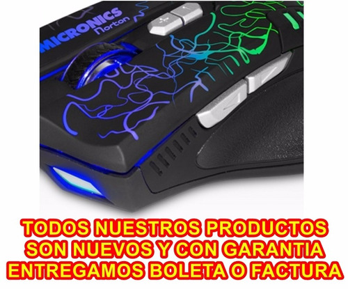 mouse gamer recargable inalambrico micronics alien mic834 wl