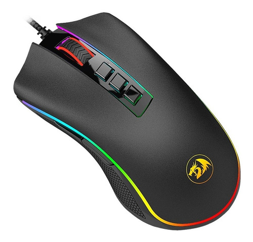 mouse gamer redragon m711 fps cobra rgb 24000 dpi