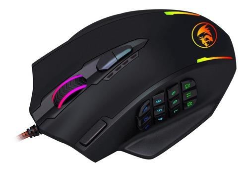 mouse gamer redragon m908 impact 18 botones 12400 dpi moba