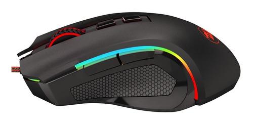 mouse gamer redragon rgb botones macros dpi fps moba pc ps4