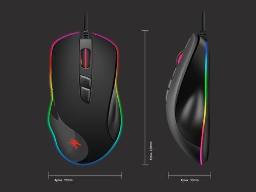 mouse gamer sentey zoner rgb 4000dpi 20g 7 botones gaming