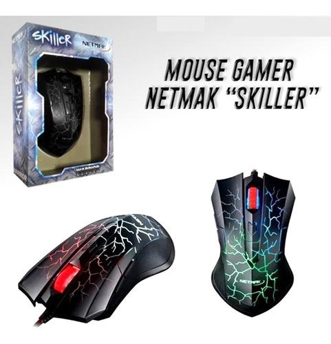 mouse gamer skiller 2400dpi - aj hogar