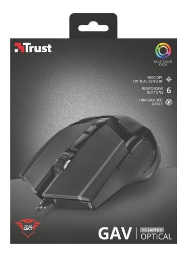 mouse gamer trust gtx101 alambrico usb.
