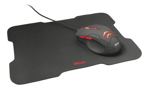 mouse gamer trust ziva 3000dpi 6 botones + pad mouse 22x30cm