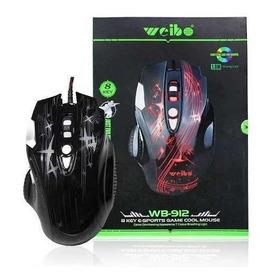 Mouse Gamer Usb 2400 Dpi 8 Botões Três Cores De Led