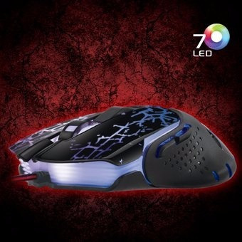 mouse gamer usb led keeper - cyb m508