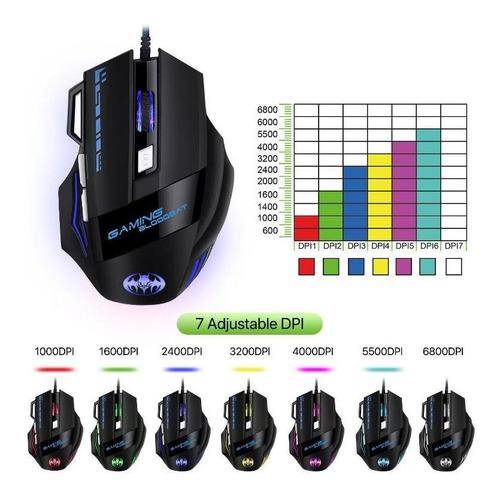 mouse gamer usb optico 7 botones g9000.