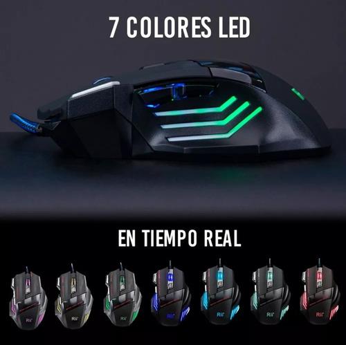 mouse gamer usb optico 7 botones plug and play