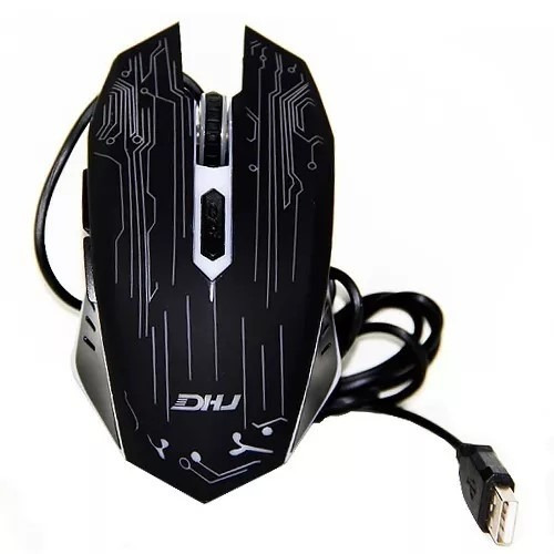 mouse gamer weibo usb led óptico 3200 dpi 6 botões wb-1670