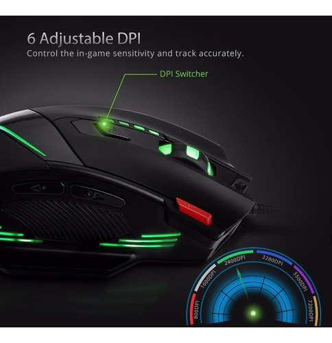 mouse gamer zelotes 2018 6 colores w01