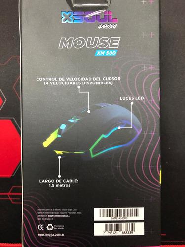 mouse gaming gamer optico usb 6 botones 3200 dpi luces led