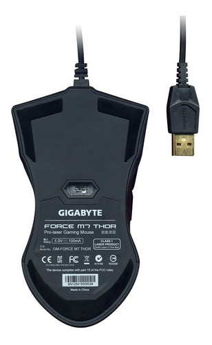 mouse gaming gigabyte force m7 thor laser
