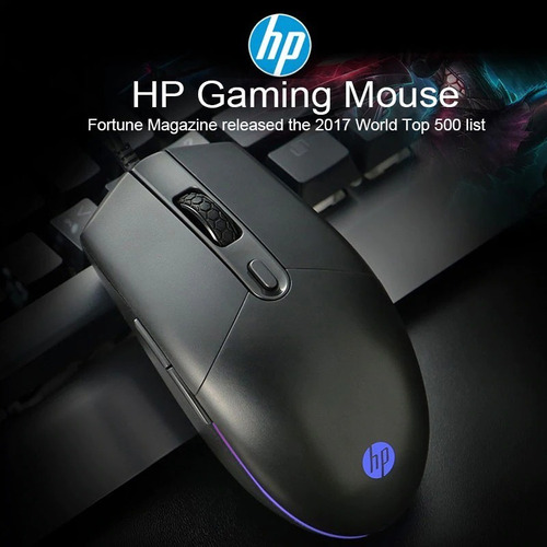 mouse gaming hp m260 5 botones 6400 dpi pc cable ajustable
