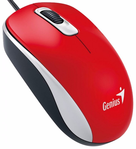 mouse genius dx-110 usb cable negro rojo azul