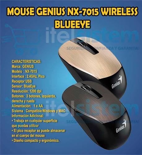 mouse genius inalambrico