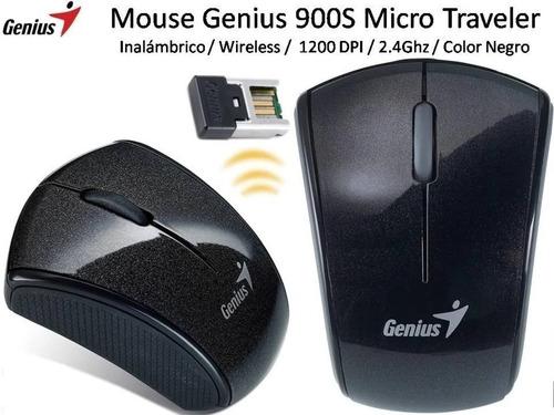 mouse genius micro traveler 900s color negro/grafito
