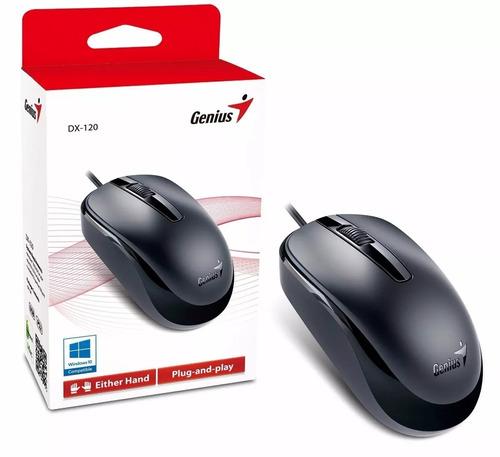 mouse genius usb dx-120 xcroll alta calidad negro oferta!!