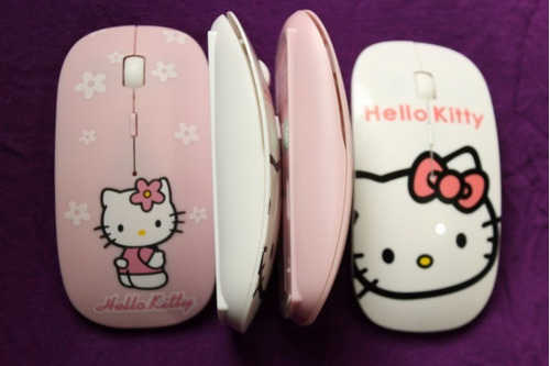mouse hello kitty - inalambrico, portátil y ultra delgado!!