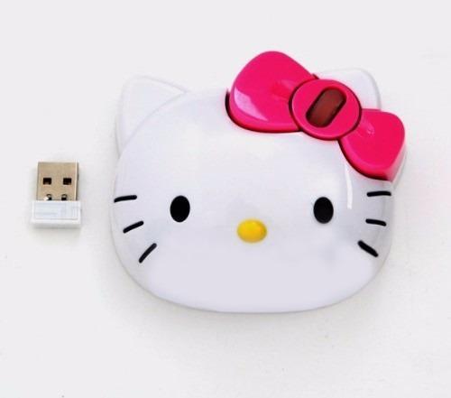 mouse inalámbrico con tapete hello kitty kt4093 sanrio