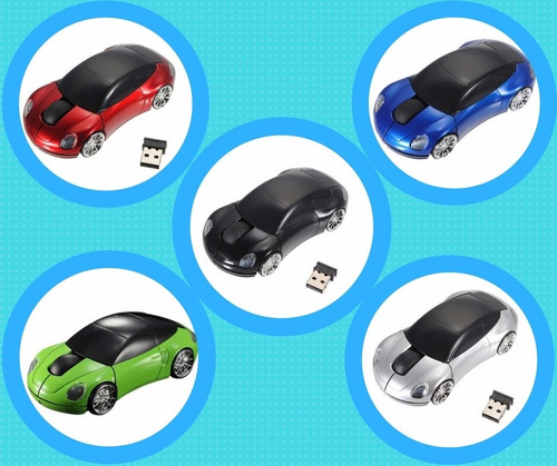 mouse inalámbrico en forma de auto deportivo porsche 2016