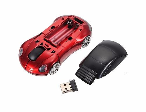 mouse inalámbrico en forma de auto deportivo porsche
