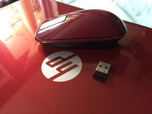 mouse inalambrico explorer touch - sangria red