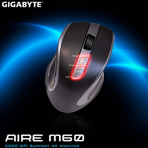 mouse inalámbrico gamer gigabyte gm-aire m60 3200dpi usb