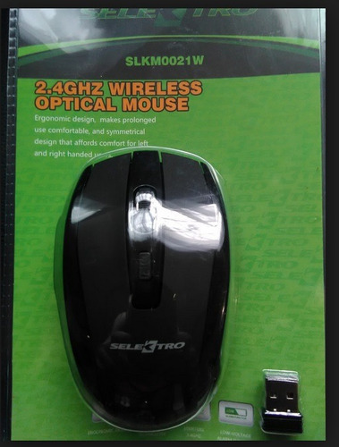 mouse inalambrico grande ergonómico selektro negro usb