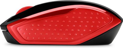 mouse inalámbrico hp 200 rojo