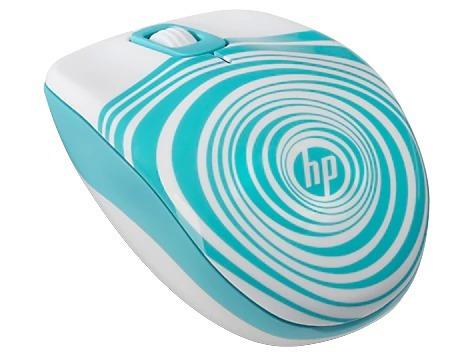 mouse inalámbrico hp blanco/aqua z3600 f7m63aa blister