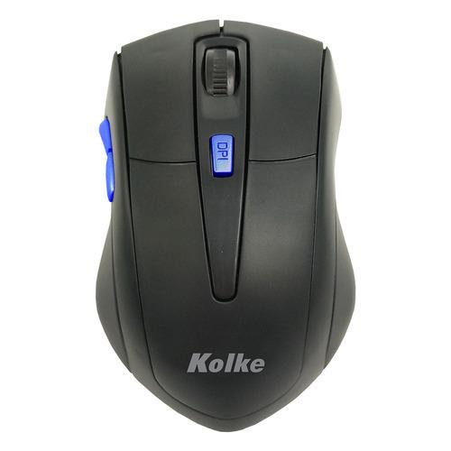 mouse inalambrico kolke kem-247 6 botones color azul htg2
