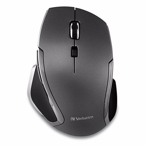 mouse inalambrico led azul 6 botones grafito verbatim 98621