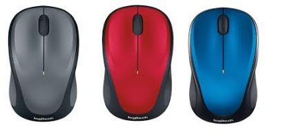 mouse inalambrico logitech 2.4g m235 optico pila aaa