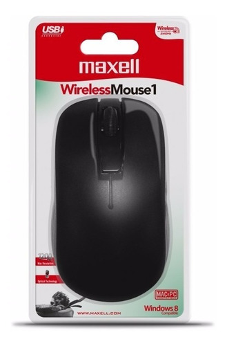 mouse inalámbrico maxell mowl-100 wireless 2.4 hz original