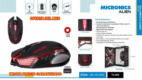 mouse inalambrico micronics