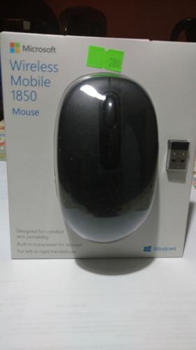 mouse inalambrico microsoft modelo 1850 negro