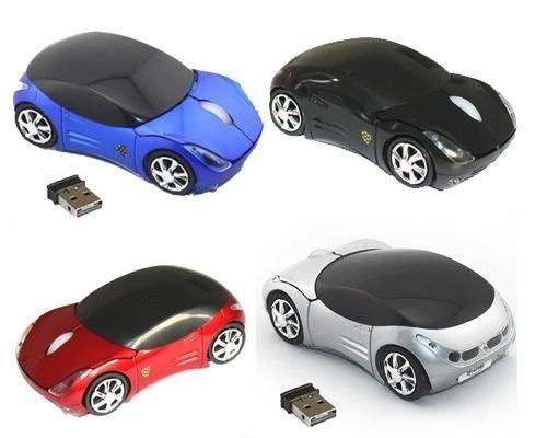 mouse inalambrico okystar optico 3d forma de carro