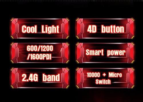 mouse inalambrico optico gaming 1600dpi iron man pc gamer