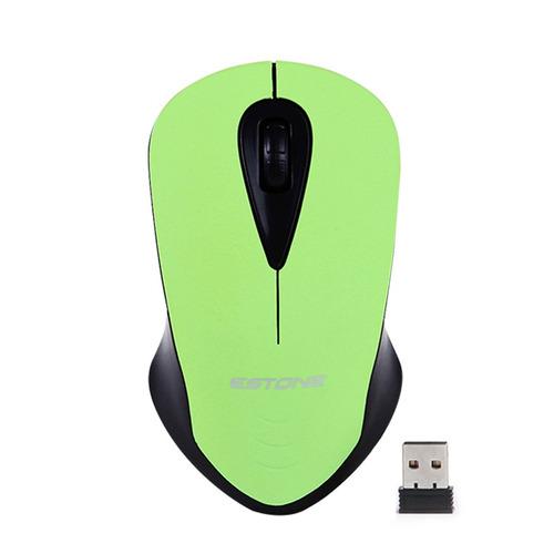 mouse inalambrico portatil usb 1600dpi mice 2.4 ghz verde