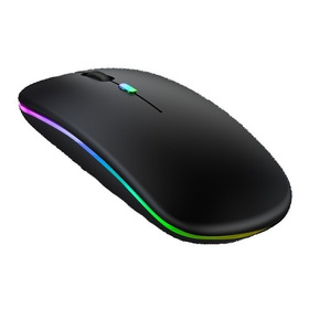 Mouse Inalambrico Recargable Con Bluetooth + Receptor Usb