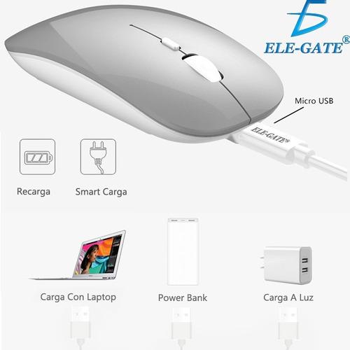 mouse inalámbrico recargable silencioso raton wireless nuevo